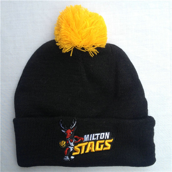 Milton Stags Black Beanie SF